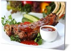 Холст еда и напитки Баранина с зеленью  Lamb with greens-478936