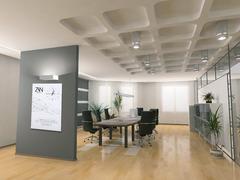 Холст с часами оформление офиса