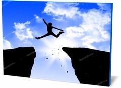 Постер автомобиль Человек прыгает на скалах  Man jumping on the rocks-318971