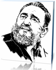 Холст личности Фидель Кастро 5  Fidel Castro-124443