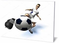 Постер спорт  Футбол игрок 3d Иллюстрация Football player 3d Illustration-220787