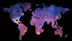 Холст Карта мира галактика