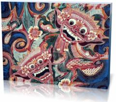Холст этнические Индонезийский рисунок  indonesia-1321504