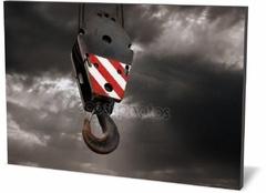 Холст промышленность Крюк крана на неба Crane hook to the sky-248990