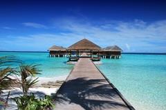 Холст в спальню Пляж Мальдивы