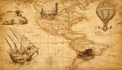 Холст в детскую Карта мира