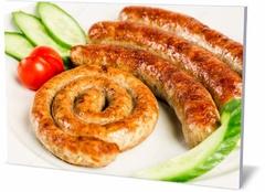 Картина еда и напитки Мясо на гриле - колбаски Grilled meat - sausages-266470