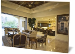 Картина интерьер Открытого плана гостиной Open plan living room-203410