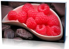 Холст еда и напитки  Малина Raspberries-435051