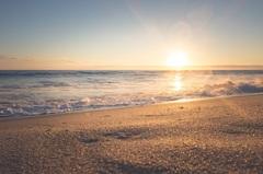Постер в спальню Песчаный пляж