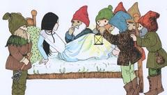 Картина в детскую Белоснежка и семь гномов