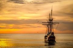 Холст в детскую Корабль