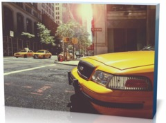 Холст автомобили Такси taxi-238478