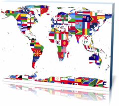 Холст Карта мира united-2723204