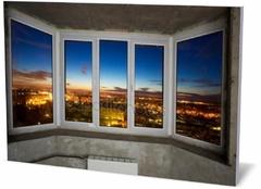 Холст интерьер Windows в новой квартире  Windows in a new apartment-238787